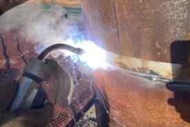 鋼管杭溶接工事