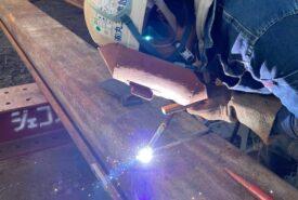 鋼矢板溶接工事